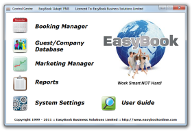 The EasyBook Control Centre